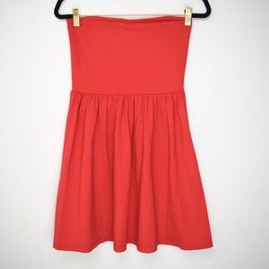 Susana Monaco Red Strapless Skater Mini Dress